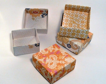 Set of 100 - Wedding Favor Box, Party Favor Box, Yellow Box, Orange Box, Yellow Wedding, Wedding Gift Box, Origami  Box, Favor Box