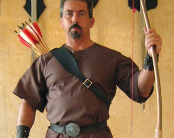 Medieval Viking Celtic Fighter Men-at-Arms Knight Leather Back Quiver