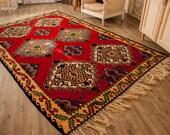 10ftx6.70ft, Large Area Turkish Rug, Accent Floor Rug Hand Woven Kilim Carpet,Oriental  Kilim, Pure Organic Wool,Large Area Rug,Tribal Rug