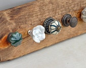 Rustic Jewelry Display with Flower Knobs