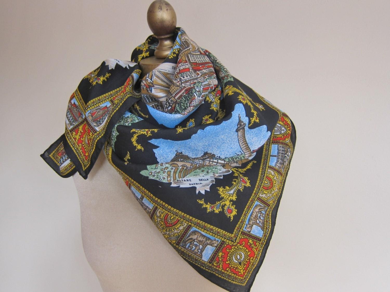 roma italian rome souvenir scarf by foulardfantastique