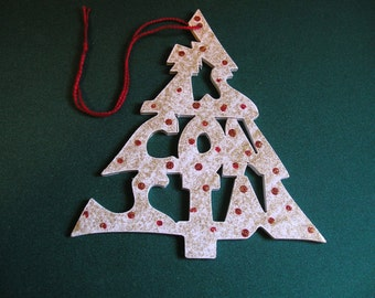 Wisconsin ornament, tree shaped
