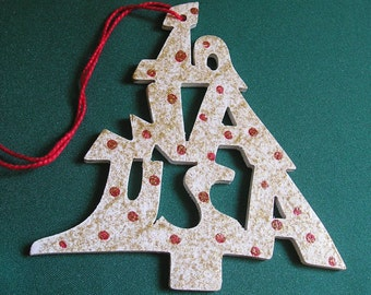 Iowa ornament, tree shaped