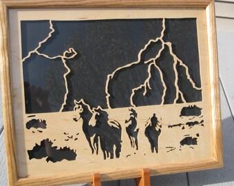 Lightning On The Plains W/ Custom Butternut Frame