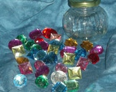Jar O Gems - sparkly rhinestone thumbtacks in a glass jar