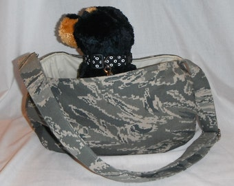 Military Pet Sling Carrier - Availlable in Air Force, Army, Navy And Marines- For Dogs Up To Approx. 6lb