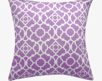 Pillow Waverly Purple Decorative pillow designer pillow 18x18 inches cushion cover