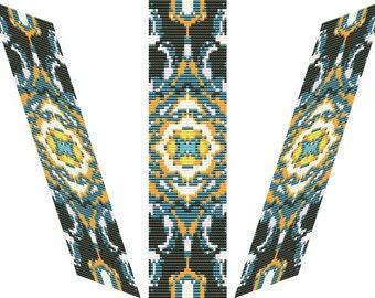 Ajna bracelet - PDF loom / square  pattern