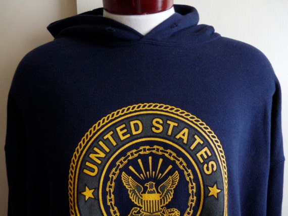 vintage 90's United States Navy blue hooded sweatshirt US