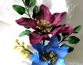 CLEMATIS Gum Paste Floral Spray  /  Cake Topper / Cake Decoration