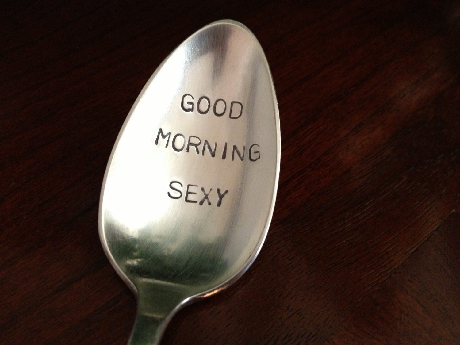 Good Morning Vintage Quotes : Good morning sexy vintage silver plate spoon