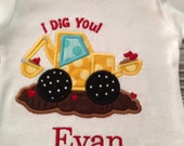 I dig you Tractor for Valentine's Day personalize for free