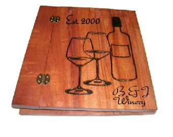 Personalized Custom Album Holds Standard 8.5x11 Pages -Woodburnt With Your Design