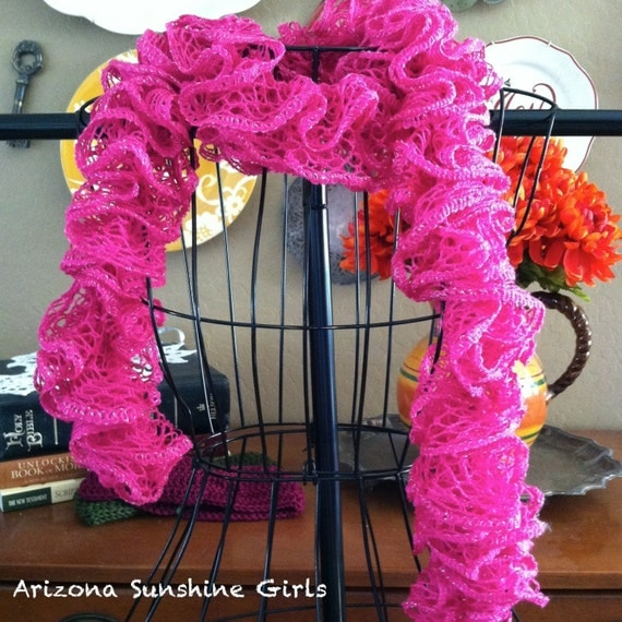 Pink Ruffle Scarf from Arizona Sunshine Girls