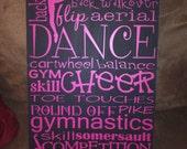 Personalized Listing For Andrea - Dance Subway Art - Black & Lavender Vinyl