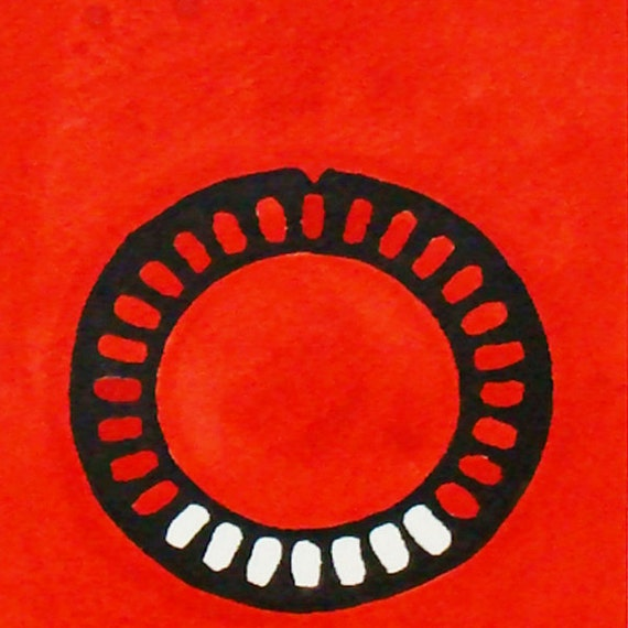 Birth Control Artwork, Original Ink on Paper Painting, Drawing, mated 8X10 Ready to Frame