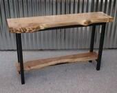 Live edge Maple Table & Steel Base