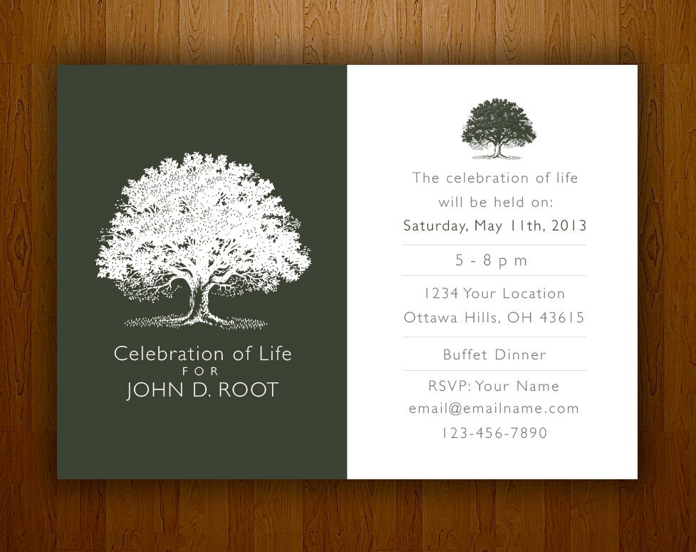 Mourning card for memorial funeral announcements or invites for Funeral remembrance cards template