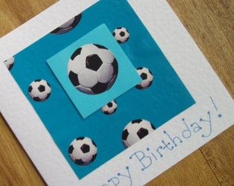 Football (or soccer) Birthday card