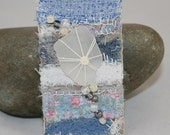 Embroidered Brooch - Sea Glass
