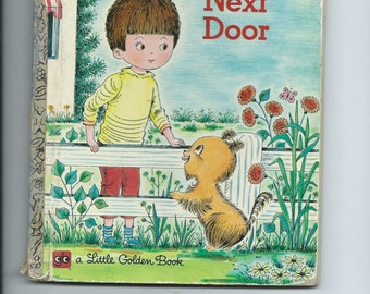 Vintage Little GOlden Book THe Magic Next Door. A Neat Story of Childhood