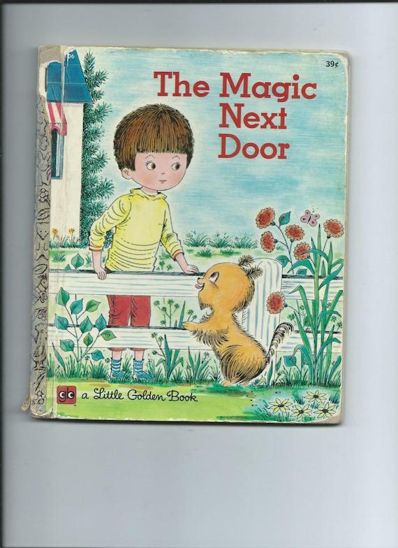 Vintage little golden book the magic next door a neat story for My little magic door