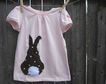 The Chocolate and Sprinkles Bunny Girls T shirt Easter Farm Animals