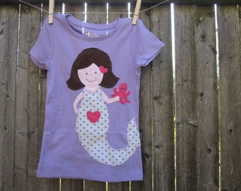 Make a Splash Happy Mermaid Kids T shirt Fairytale Creatures