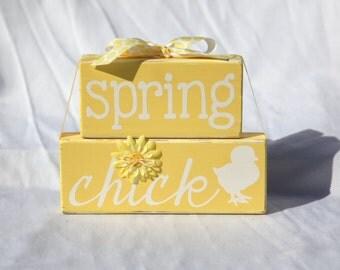 Spring Chick Blocks