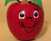 Vintage Fisher Price Happy Apple Toy