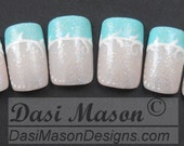Pastel Green French Instant Acrylic Nail Set