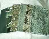 Shades of Green Fat Quarters (6)
