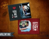 5x7 Retro PSD Valentine Template for Photographers - The Betty Collection (II)