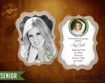 5x7 High School Senior Graduation Luxe Announcement - Meadowlark Senior (I)