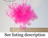 """6"""" Curly Ostrich Puff -- Mix & Match with Many Color Choices -- Select Your Quantity - 3.00 shipping for any size order"""