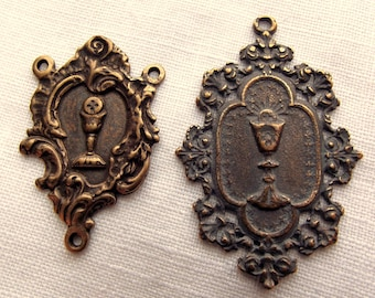 Bronze Blessed Sacrament Medal Set
