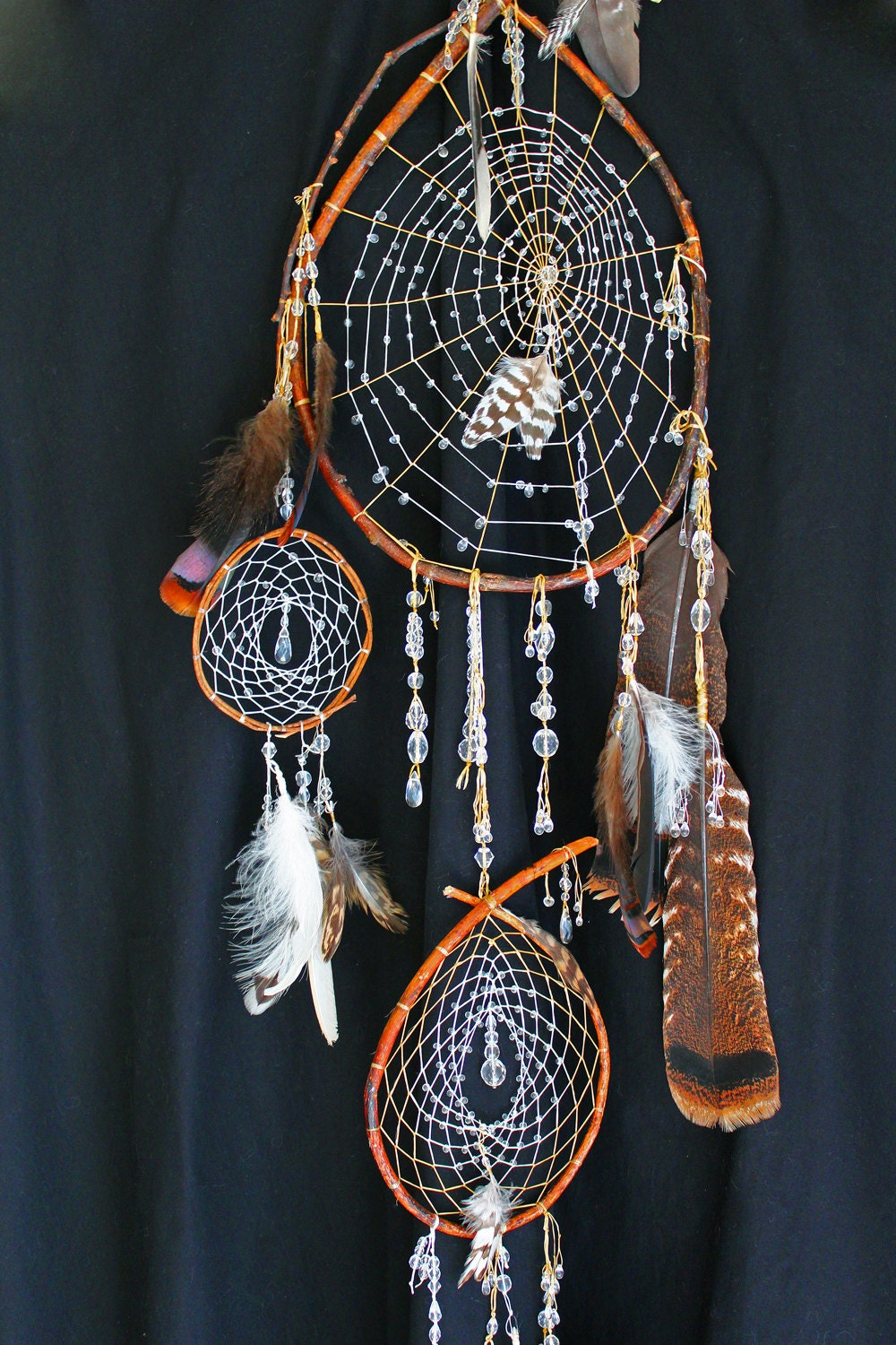 Crystal Drop Dreamcatcher Native American Southwestern