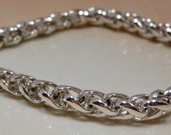 Monet Silver Cable Chain Bracelet