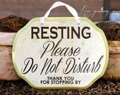 CUSTOM - NO SOLICITORS Sign - do not disturb, do not knock, baby sleeping, nurse  9 x 7