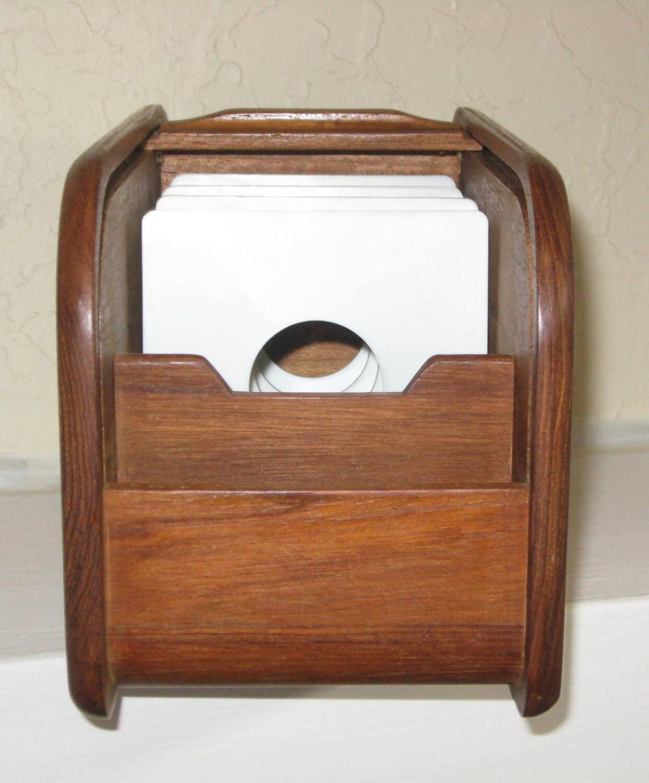 Teak Tambour File With Original Dividers Kalmar Designs