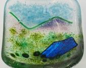 Stickle Tarn fused glass dish (LD24)