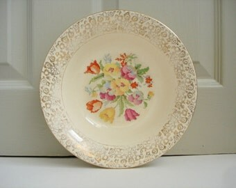 Vintage China Bowl - Floral Tapestry Design