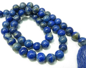 14 Inches Good Quality Natural Stone Lapees Lazuli Round Smoot Beads Size 7X7 mm Approx