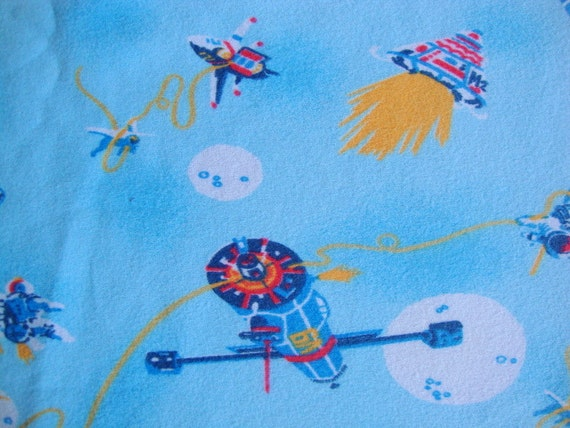 vintage 80s space shuttle fabric astronaut in by cutebrightfun