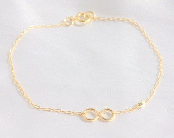 Infinity Bracelet, 14k Gold filled,Sterling Silver, Rose Gold,Friendship, initial bracelet, Sister, Bridesmaid, Valentine Gifts