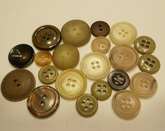21 earth tone button mix, 13-23 mm (31)