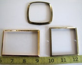 Steampunk Supplies No. CPB8 Lot of 3 Vintage Clock parts, Bezels for Steampunk creations, Altered Art, Assemblage