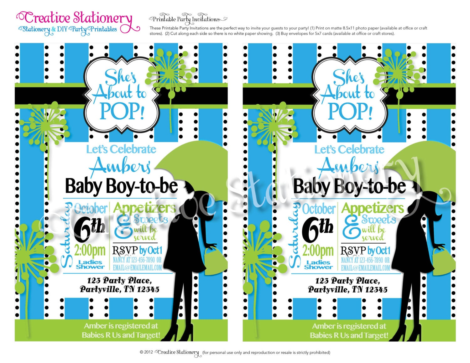 she 39 s about to pop boy baby shower diy party invitations