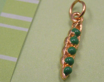 C19 Gold Pea Pod 5 Peas-in-a-Pod Garden Vegetable Kitchen Healthy Charm