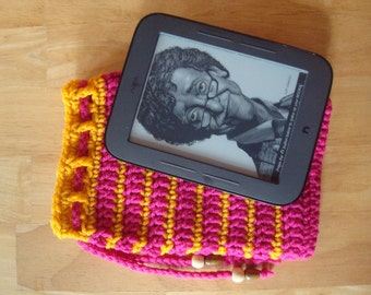 On Sale! - Nook Simple Touch Cover, Case, Sleeve, Jacket, or Drawstring Bag - Handmade Crochet